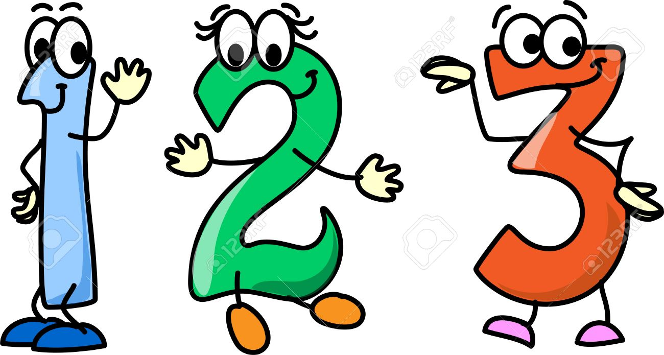 Cartoon Numbers Clipart