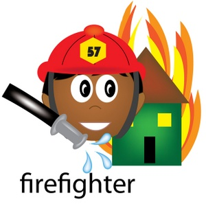 300x300 Firefighter Clipart Image