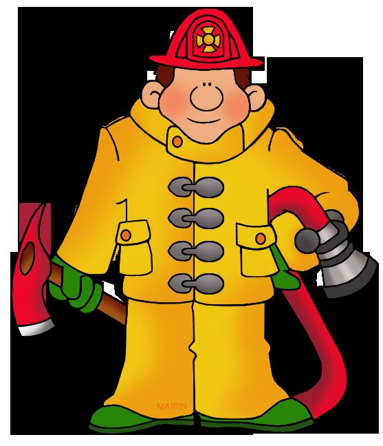 557x648 Occupations Clip Art By Phillip Martin, Fireman