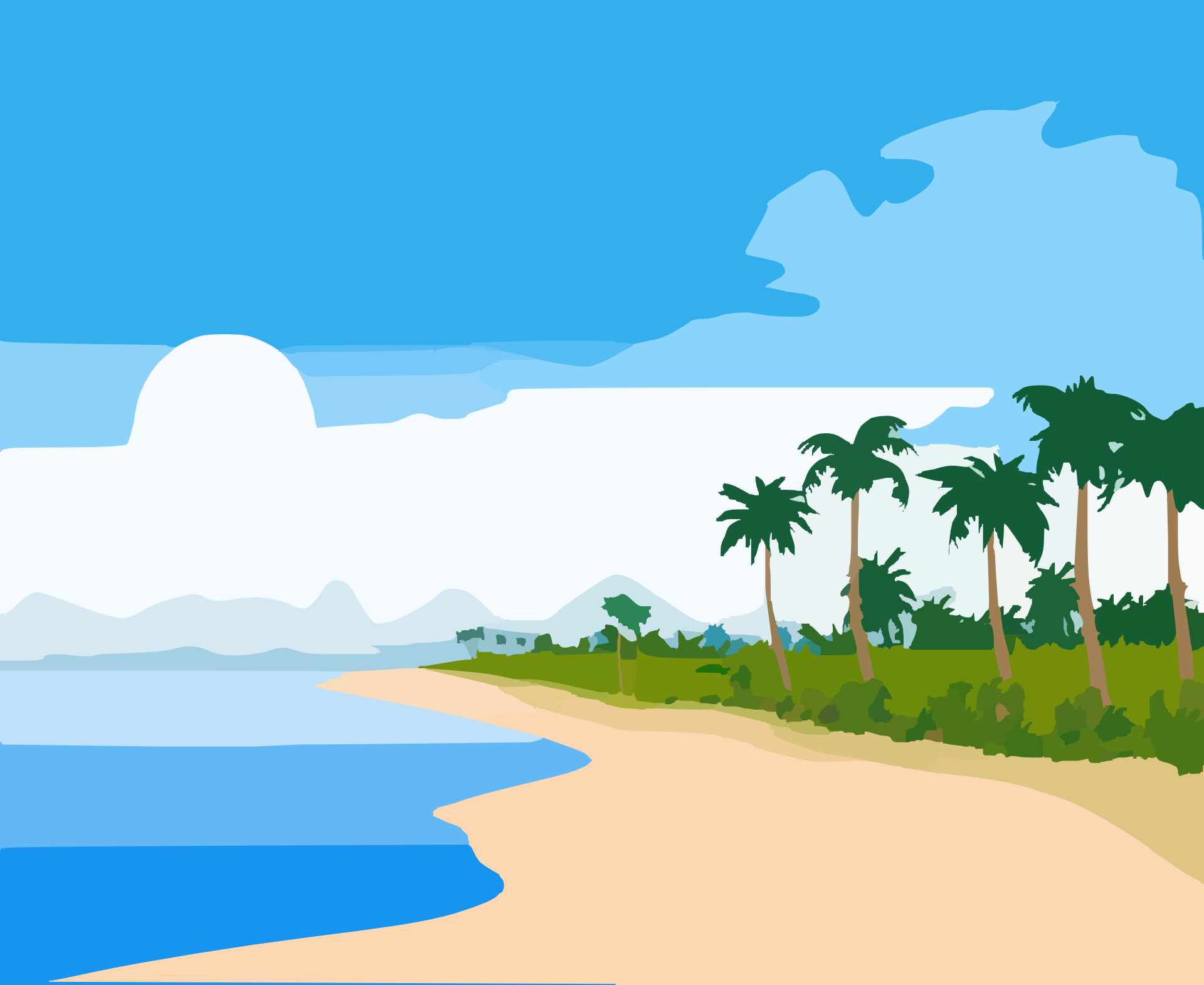 1920x1571 Shore Clipart Beach Wave