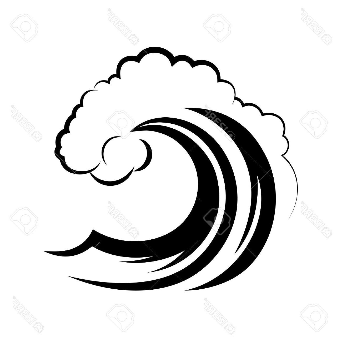 1300x1300 Best Ocean Wave On White Background Stock Vector Image