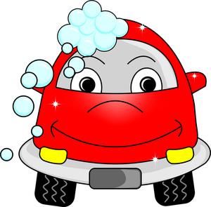 300x295 Cartoon Car Clipart Image Car Getting A Car Wash
