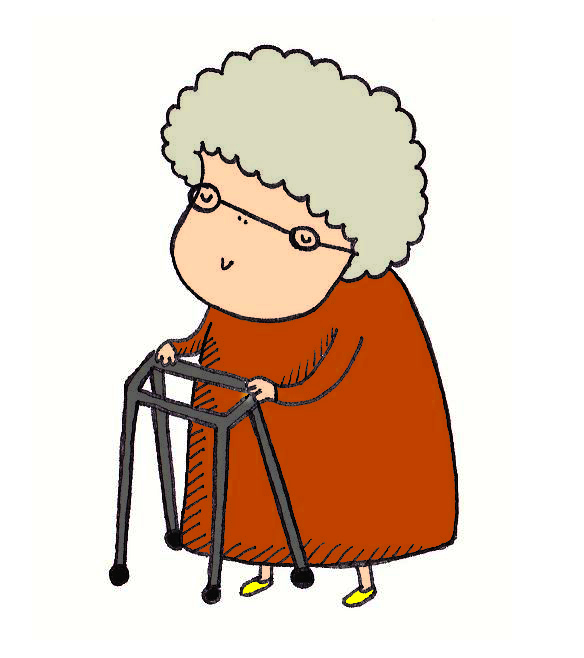 584x658 Old Lady Clipart Old Lady With A Walker Clip Art Library Free