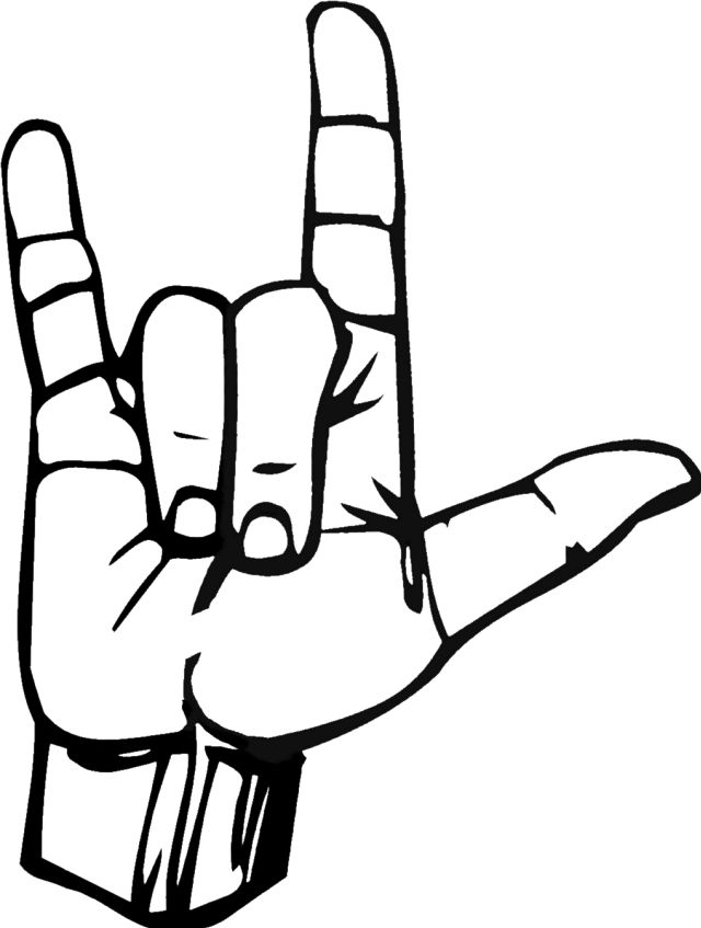 640x847 Peace Sign Clipart Sign Language
