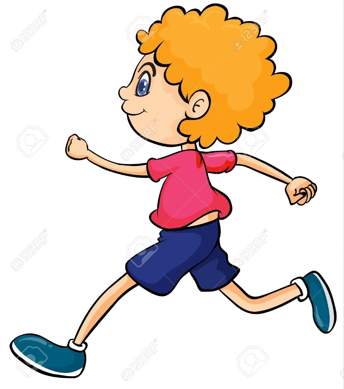 Cartoon Person Running Clipart
