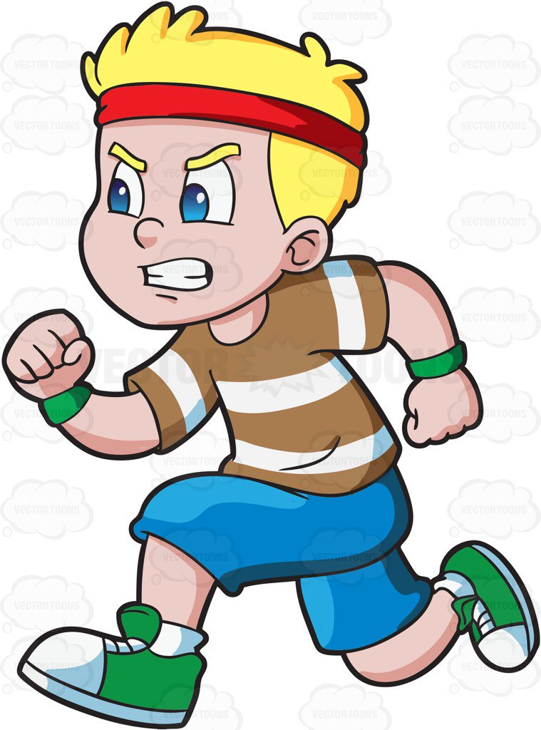 Cartoon Person Running Clipart