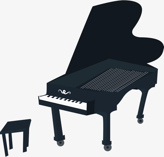 650x623 Cartoon Black Piano, Piano, Western Instruments, Musical