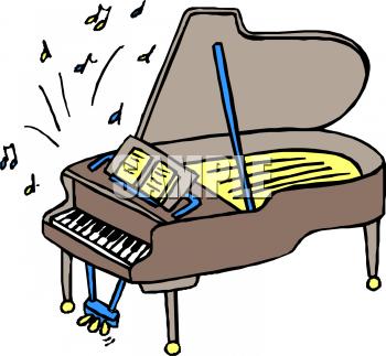 350x323 Cello With Piano Cartoon Clipart