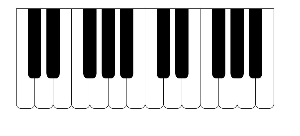 1034x468 Clipart Keyboard Piano