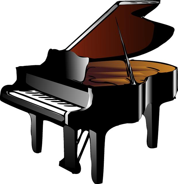 619x640 Piano, Music, Keyboard, Open, Cartoon, Musical