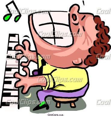 369x383 Piano Cartoon Clipart