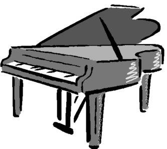 333x297 Piano Clipart Clipartpen