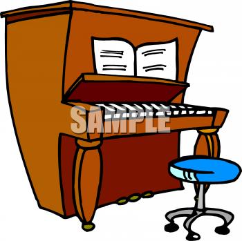 350x349 Piano Clipart Cartoon
