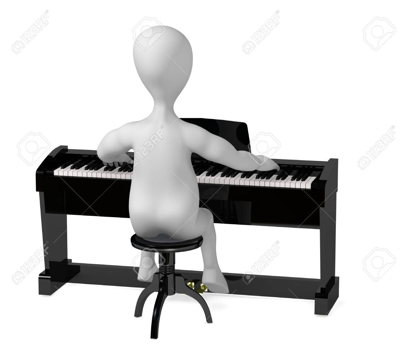 1300x1114 3d Render Of Cartoon Character Digital Piano Stock Photo, Picture