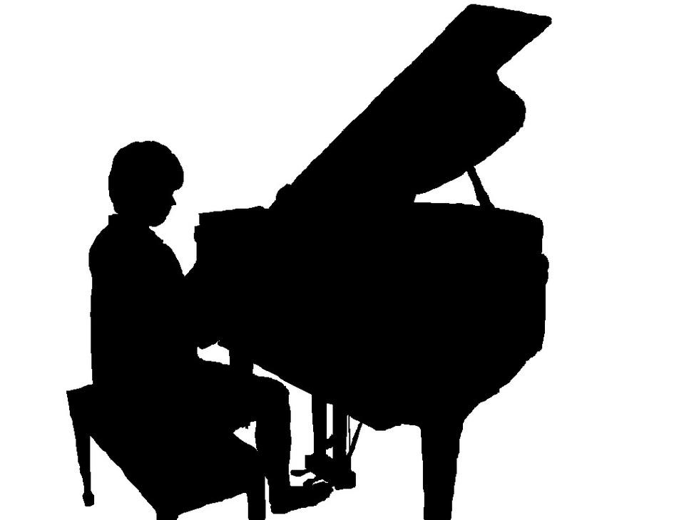 973x730 Piano Clipart Silhouette