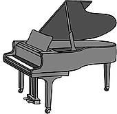 170x166 Upright Piano Cartoon Clipart Panda