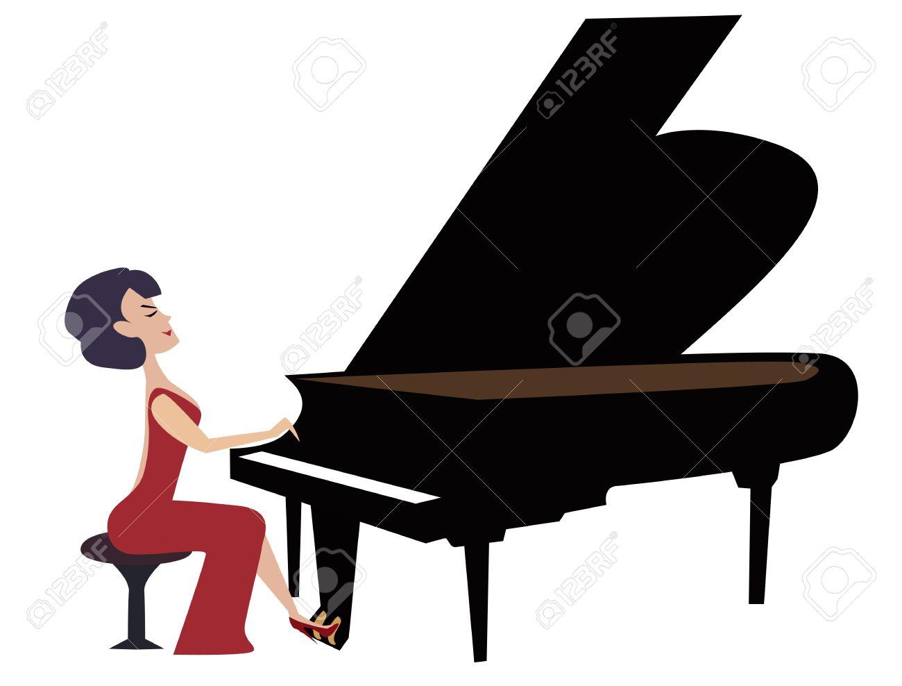 1300x988 Woman Playing Piano