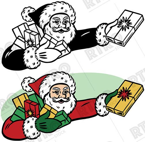 Cartoon Pics Of Santa Claus Clipart