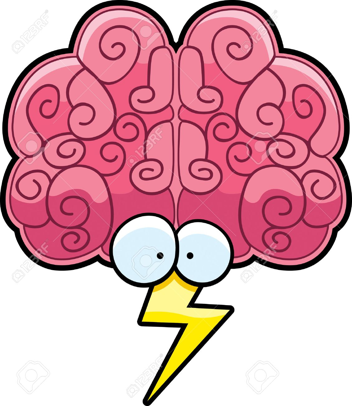 Cartoon Picture Of A Brain