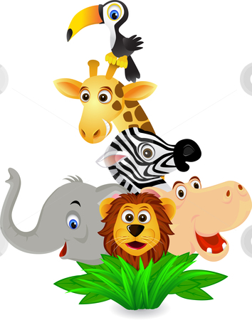 354x450 Cartoon Zoo Animals Clipart