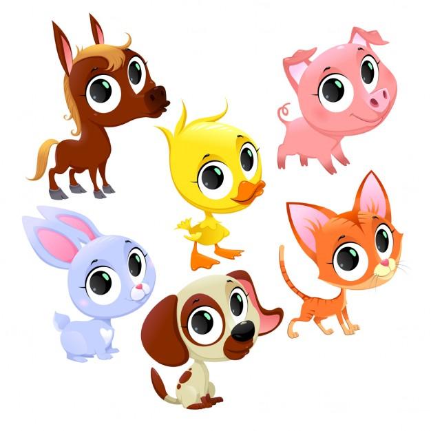 626x626 Cartoon Animals Vector Free Download