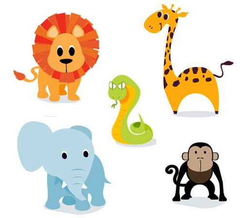 500x448 Cartoon Jungle Animals Clipart Clipartfest