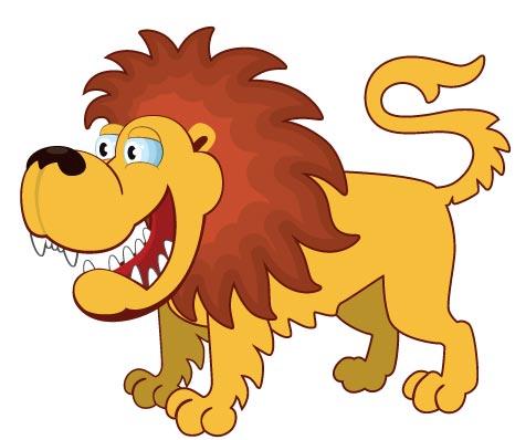 466x398 Flattern Jungle Animals Cartoon Vectors