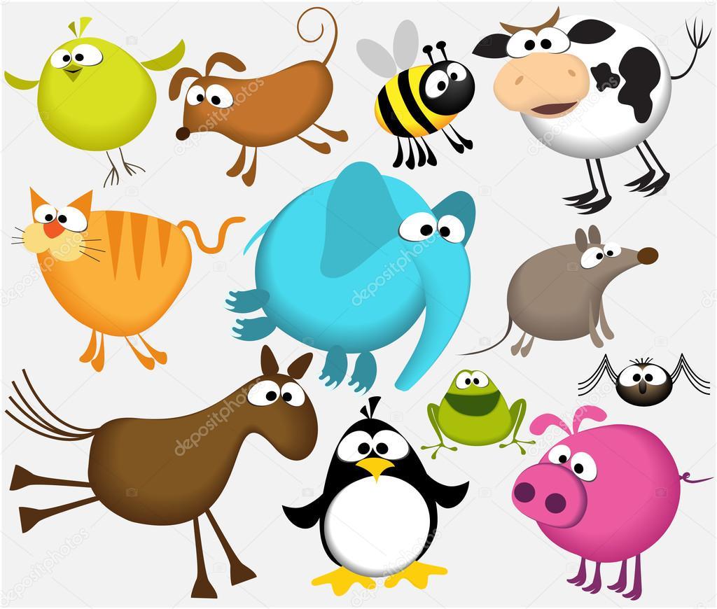 1024x870 Funny Cartoon Animals Stock Vector Agnieszka
