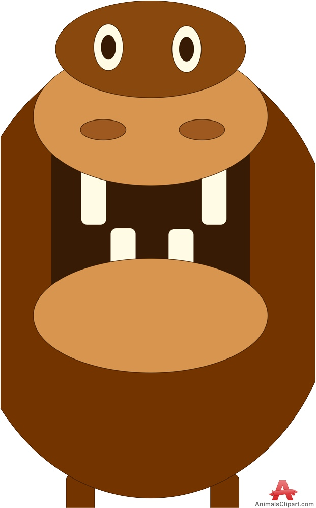 621x999 Hippopotamus Cartoon With Open Mouth Free Clipart Design Download