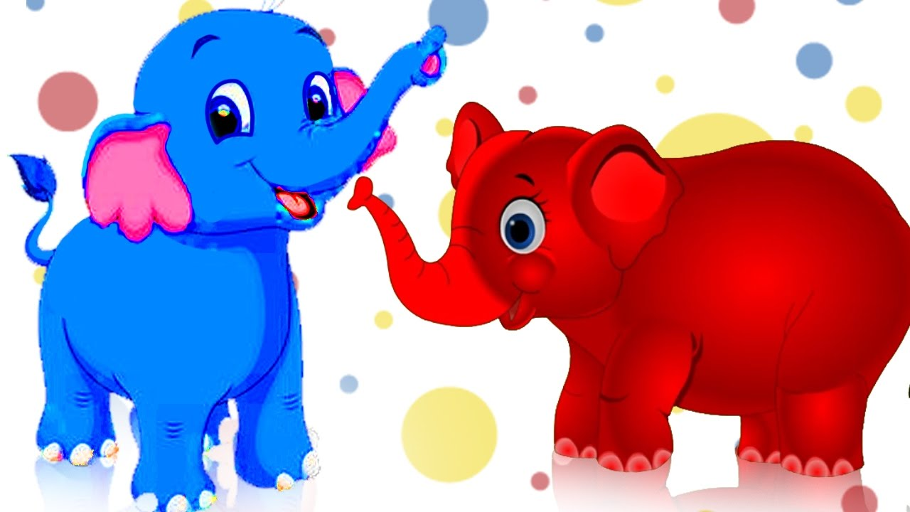 1280x720 Learn Colors With Elephant Cartoon For Children Colors Animals