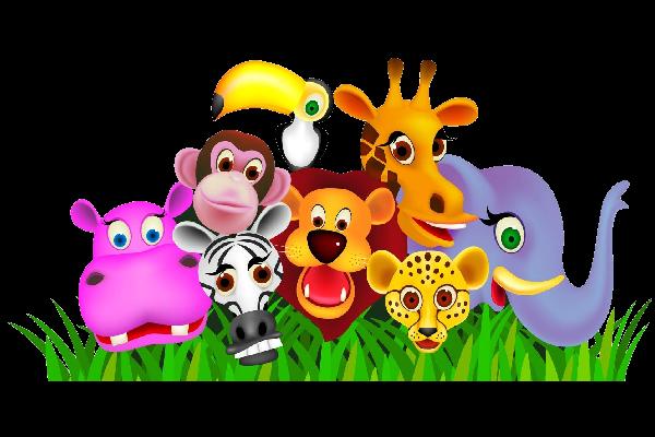 600x400 Baby Cartoon Animals Clipart Kid