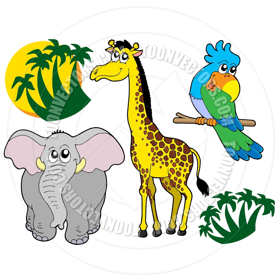 940x940 Cartoon African Animals Collection By Clairev Toon Vectors Eps