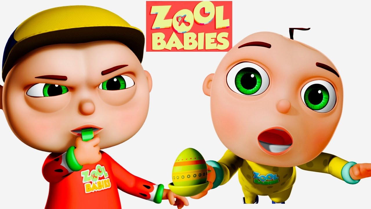 1280x720 Zool Babies Playing Egg And Spoon Zool Babies Series Cartoon
