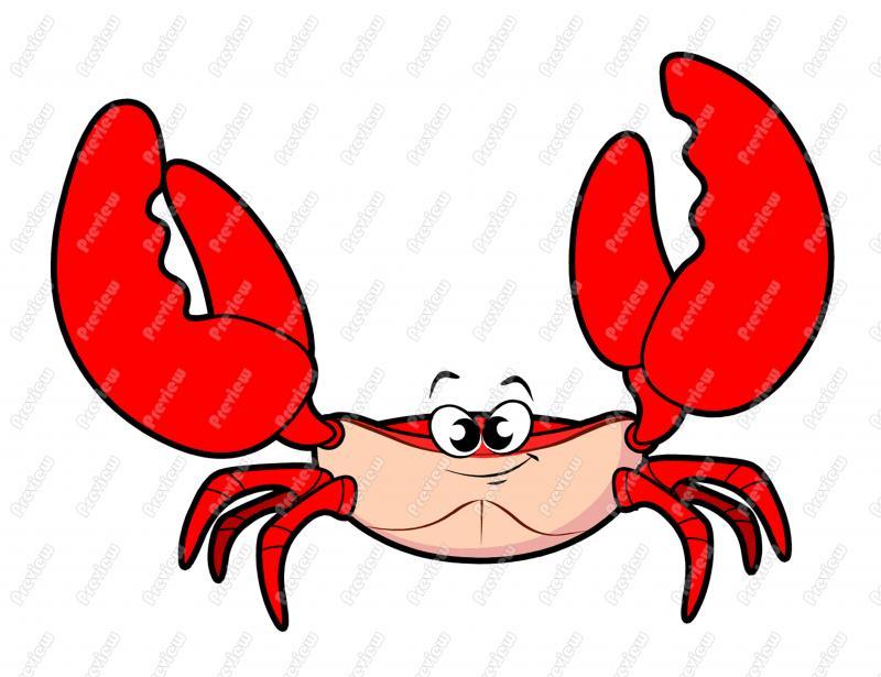800x615 Crab Character Clip Art