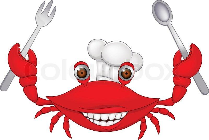 800x538 Crab Chef Cartoon Stock Vector Colourbox