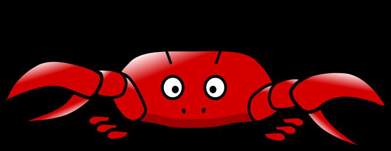 800x309 Crab Clipart Cartoon