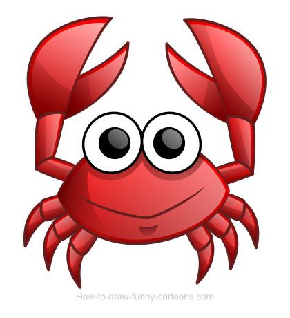 420x460 Learn How To Draw A Cute Cartoon Crab! ) Upstairs Bath