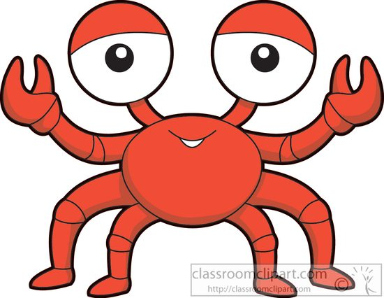 550x426 Marine Life Clipart Clipart Sea Life Red Crab Cartoon Clipart 577