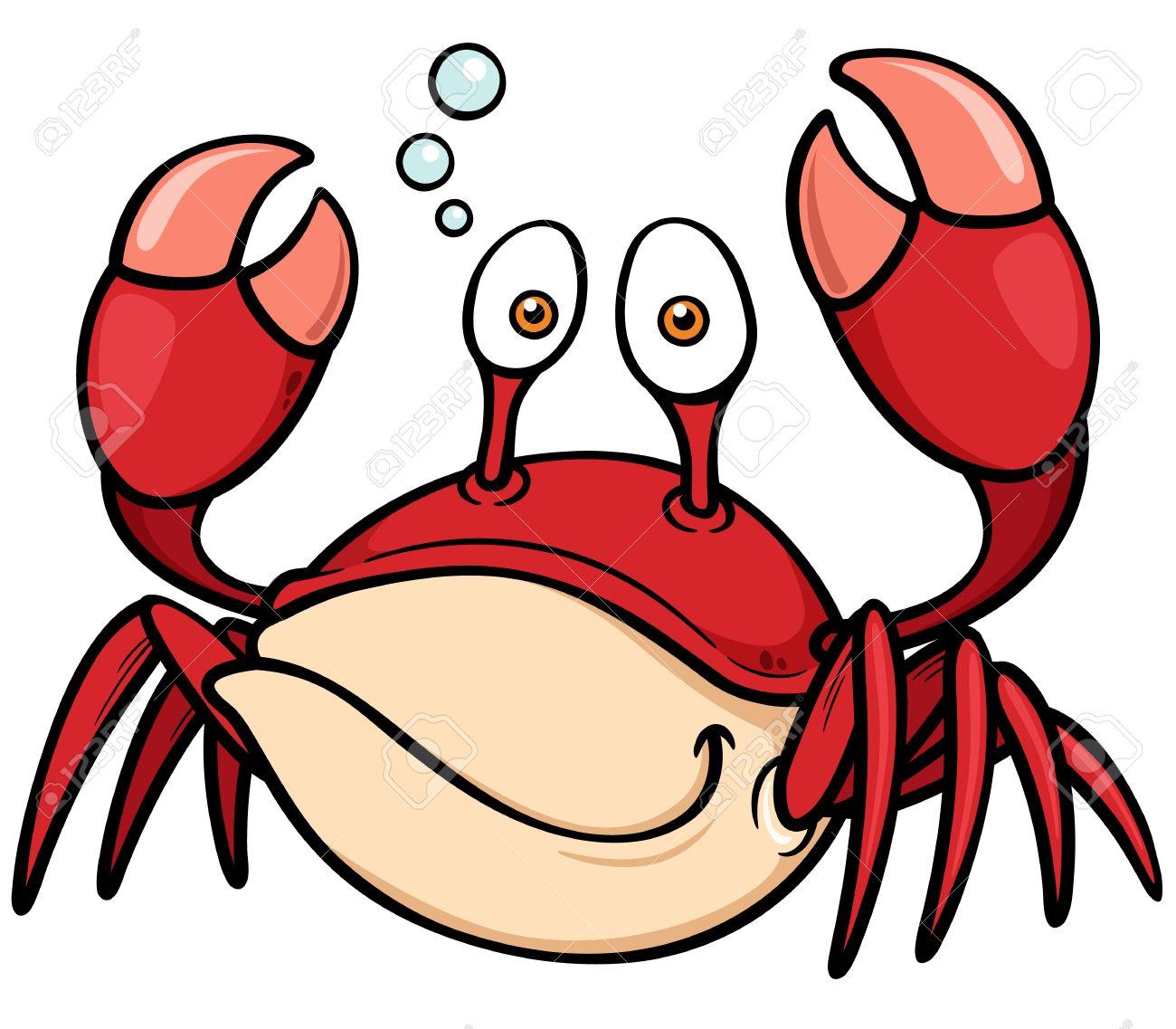 1300x1137 Vector Illustration Of Cartoon Crab Royalty Free Cliparts, Vectors