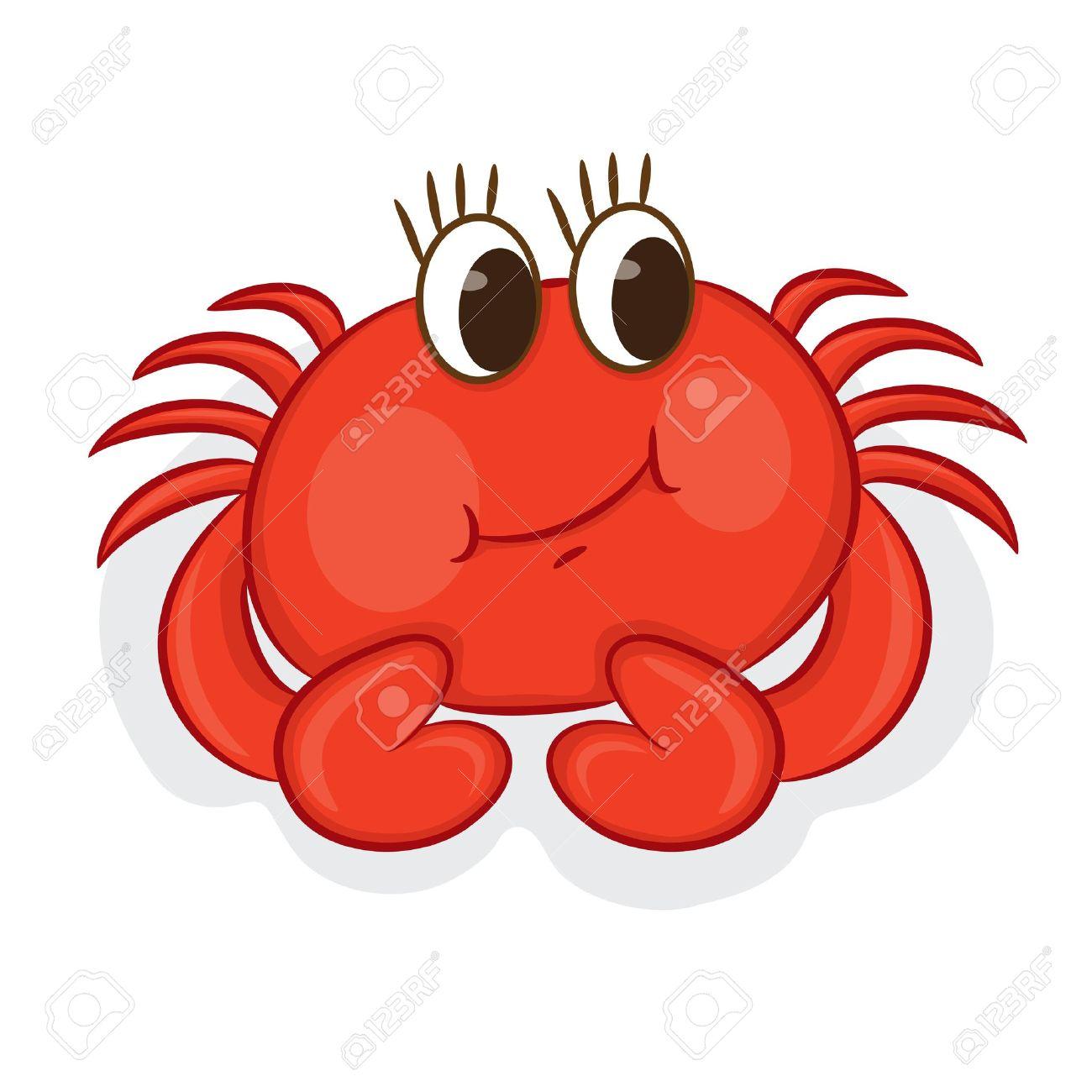 1300x1300 Cartoon Crab Vector Illustration Royalty Free Cliparts, Vectors