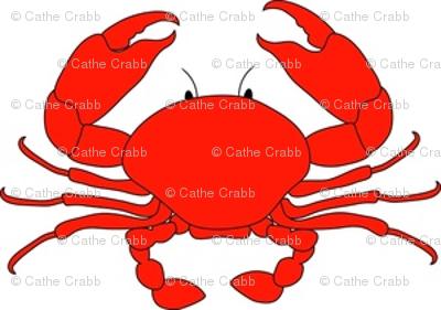 400x281 Cartoon Red Crab Fabric