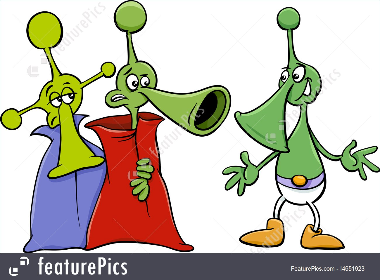 1300x959 Alien Characters Cartoon Stock Illustration I4651923