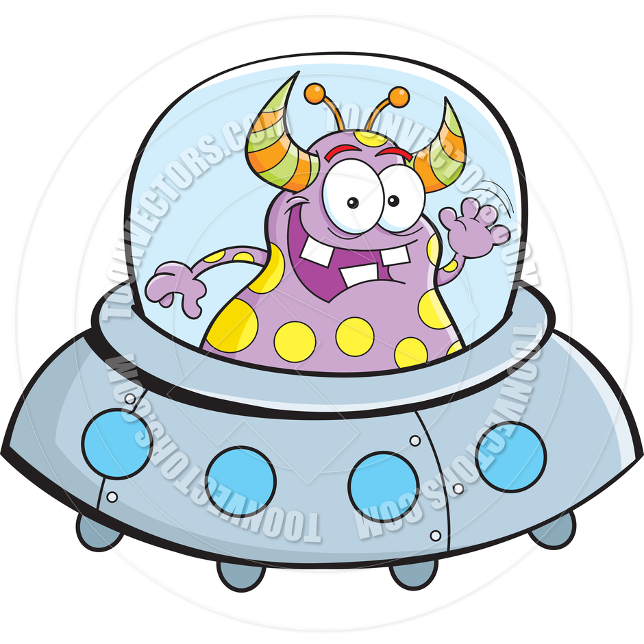 940x940 Cartoon Alien Spacecraft By Kenbenner Toon Vectors Eps
