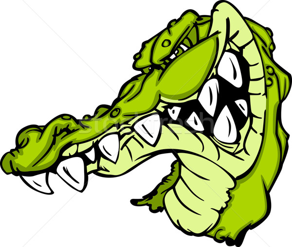 600x508 Gator Or Alligator Mascot Cartoon Vector Illustration Dennis