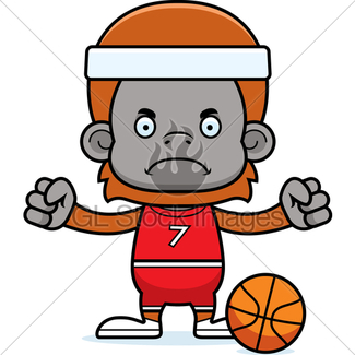 325x325 Cartoon Angry Basketball Player Gorilla Gl Stock Images