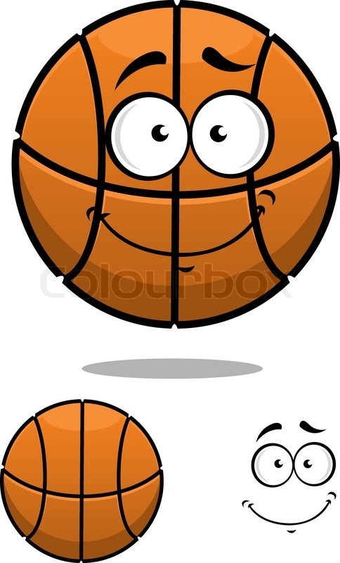 484x800 Cartoon Basketball Ball Character With A Cute Face And A Second