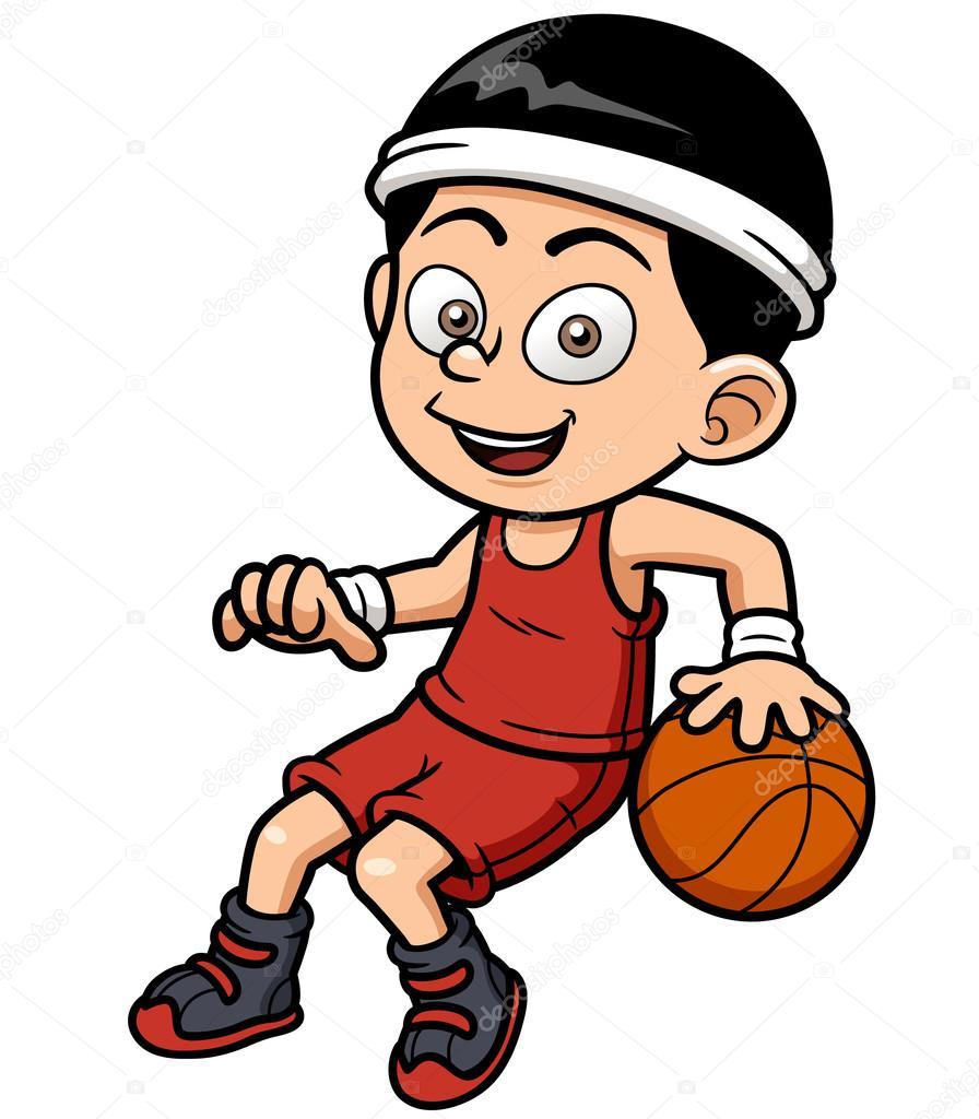 896x1024 Cartoon Basketball Player Stock Vector Sararoom