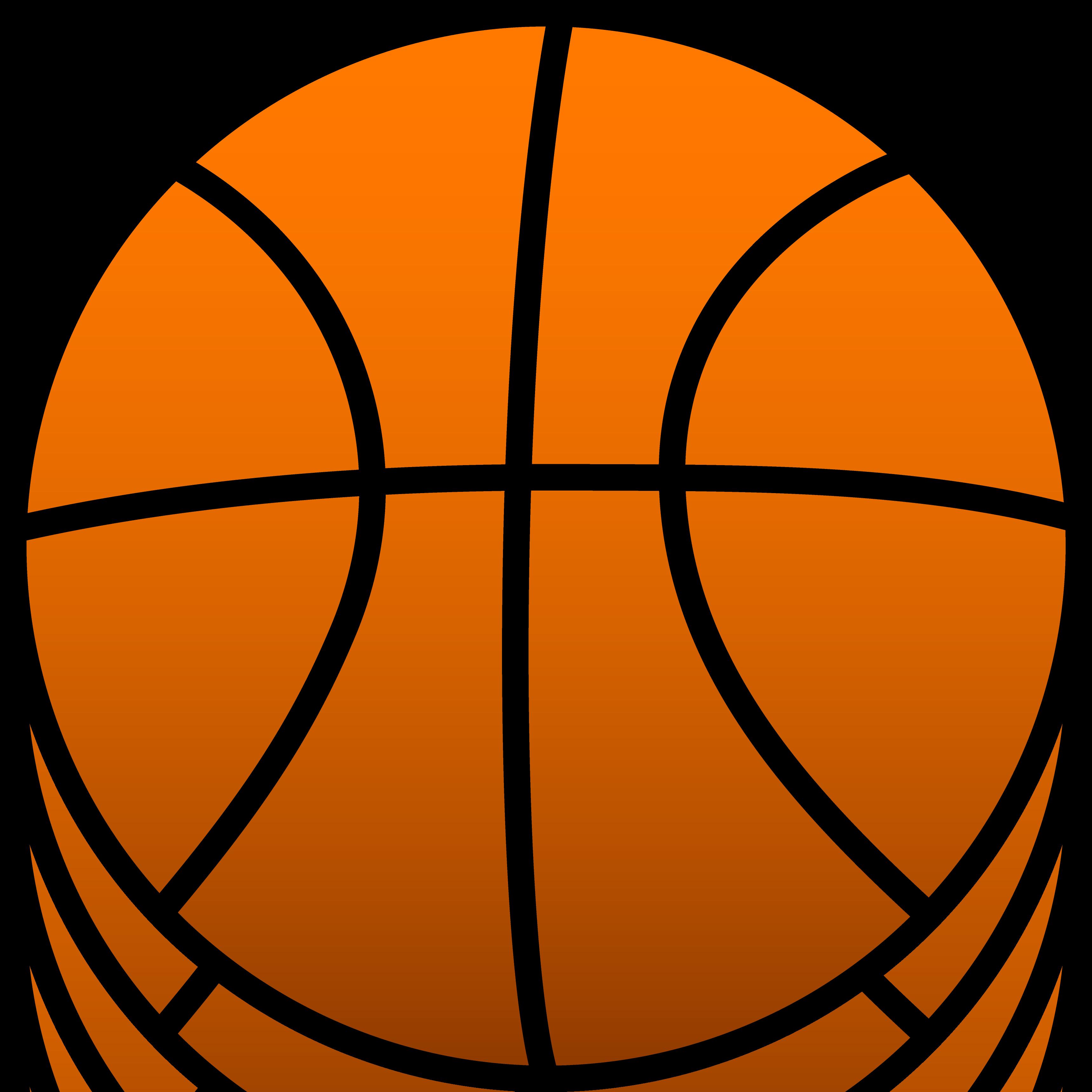 3437x3437 Simple Orange Sports Basketball