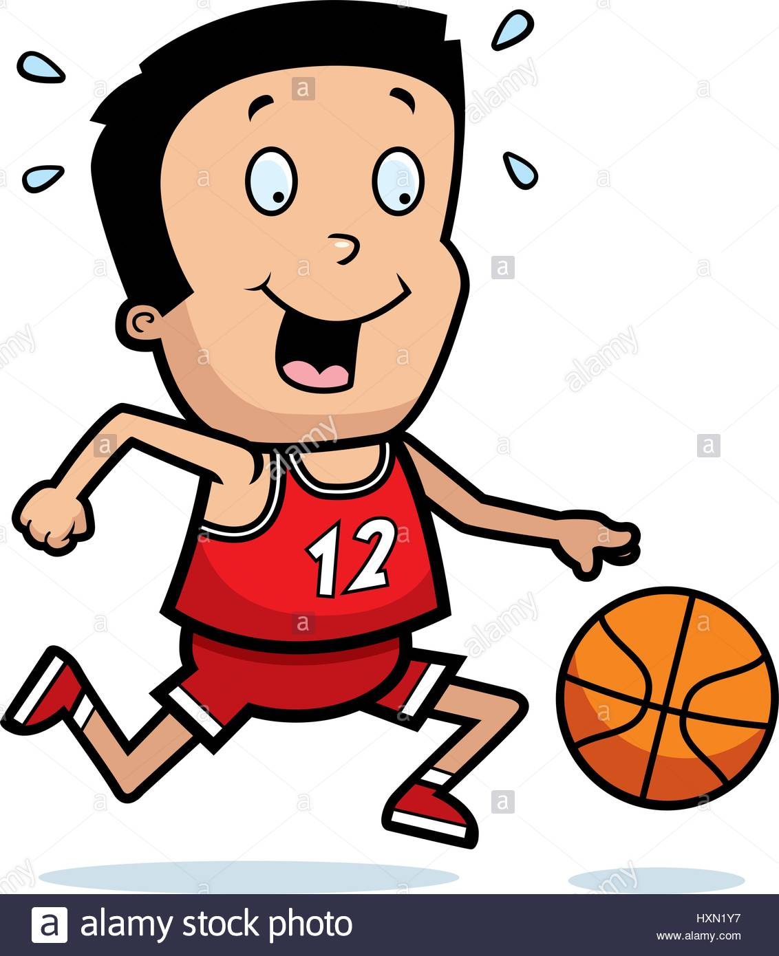 1132x1390 A Cartoon Illustration Of A Boy Playing Basketball Stock Vector
