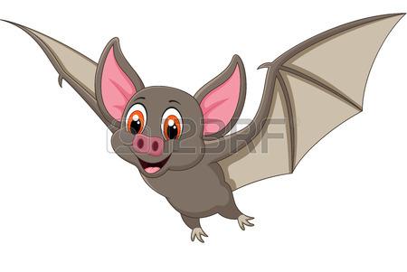 Bat sleeping. Cartoon pictures of bats
